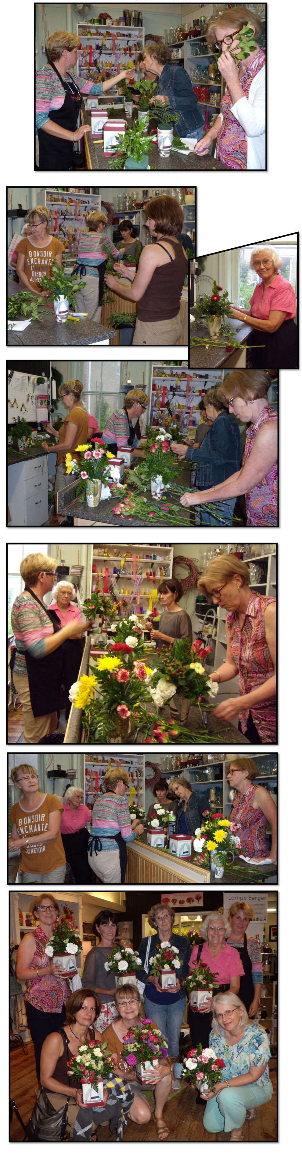 Uxbridge Horticultural Society Workshop at Keith's Flowers June 1515, 2015